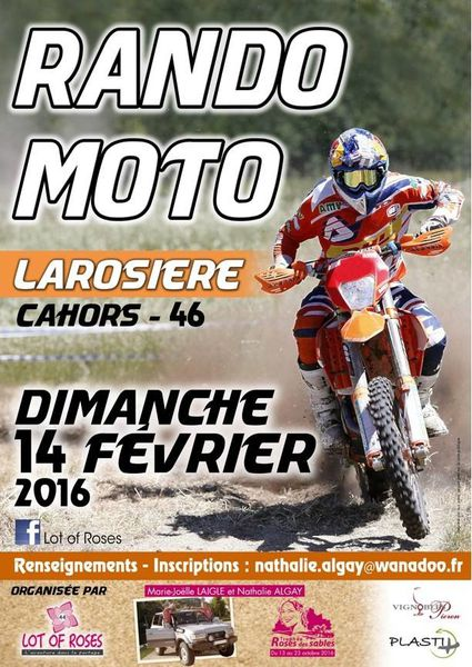 Rando Enduro Moto de Lot Of Roses (46), le 14 février 2016