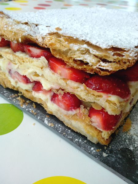 MILLE FEUILLES GOURMAND FRAISES RHUBARBE