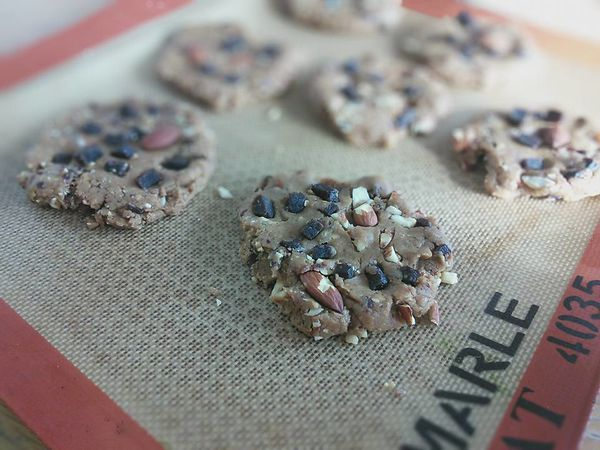 COOKIES VEGETARIEN PUREE SESAME FRUITS SECS