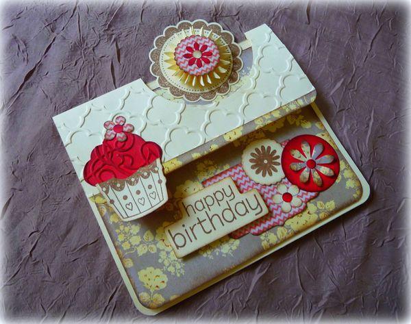 Carte &quot&#x3B;Cupcake&quot&#x3B;