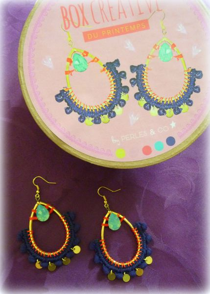 Boucles d'oreilles &quot&#x3B;Box créative - Perles and Co&quot&#x3B;