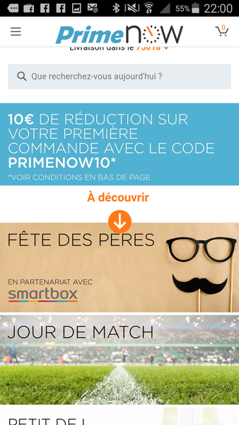 Amazon Prime Now : début du deuxième round sur l'alimentaire en France by Amazon.
