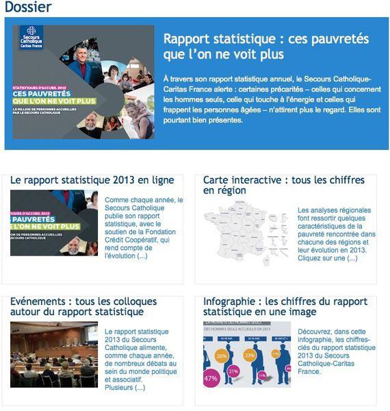 Le Secours Catholique - Caritas France publie son rapport annuel sur la Pauvreté en France
