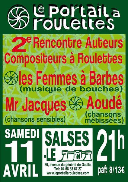 Salses: Demain,2 ème RENCONTRE AUTEURS COMPOSITEURS À ROULETTES