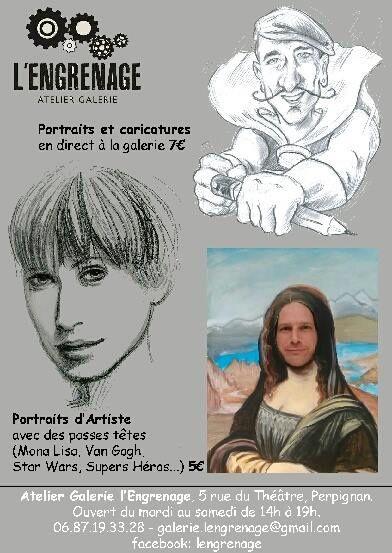 Perpignan:pour Noël la galerie l'Engrenage vous refait le portrait! interview François Sanchez et Quentin Harel par Nicolas Caudeville