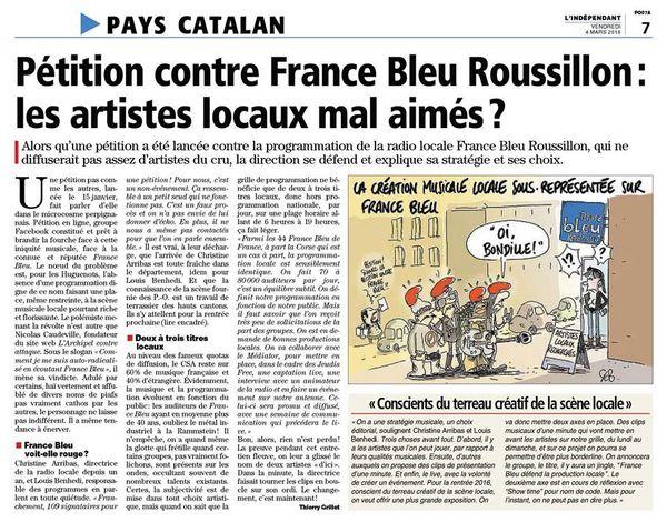 """Perpignan:depuis février,""""France Bleu Roussillon défend la production locale"""", c'est Showtime! par Nicolas Caudeville"""