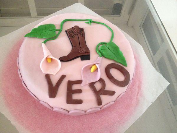 Gâteau thème country fleurie