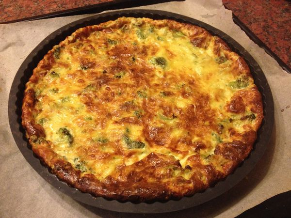 Quiche au roquefort et brocolis