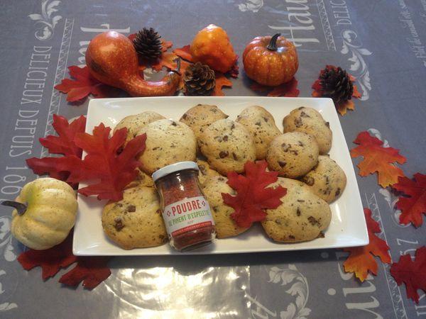 Cookies au éclats de chocolat au lait et piment d'Espelette