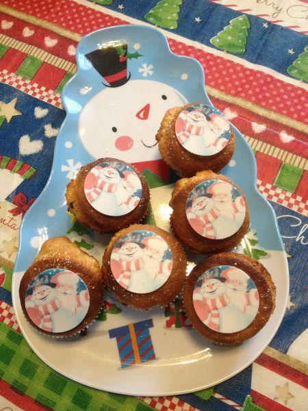 Muffins aux écorces d'orange confites et pépites de chocolat