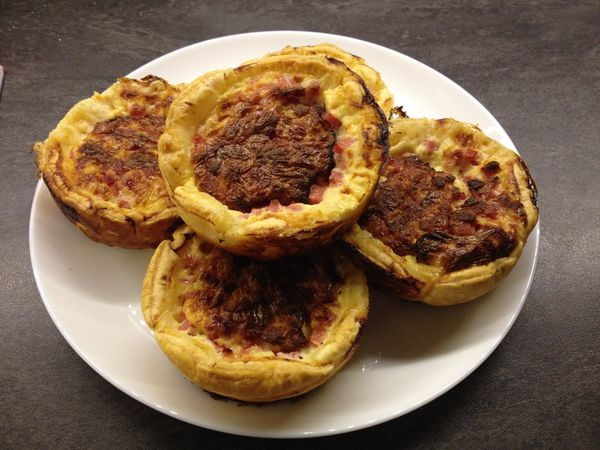 Quiches jambon/fromage individuelles