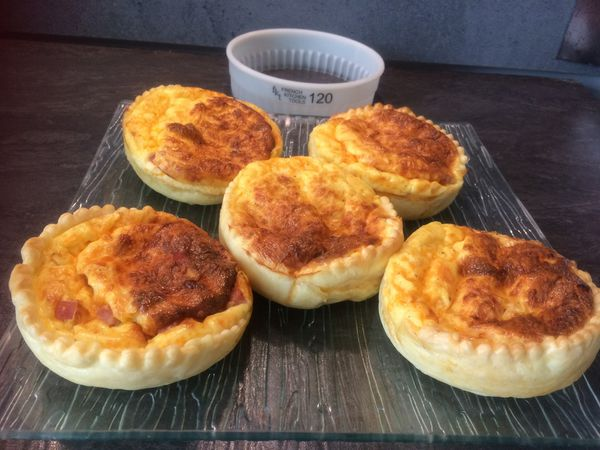 Mini quiches jambon mimolette