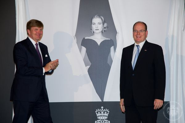 Tapis royal pour l'exposition Grace Kelly au Palais Het Loo le 3juin
