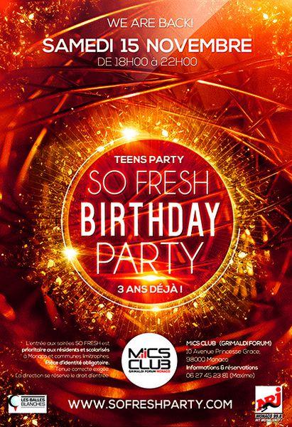 MICS: La plus grosse Teens Party d'Europe le 15 novembre prochain au Grimaldi Forum