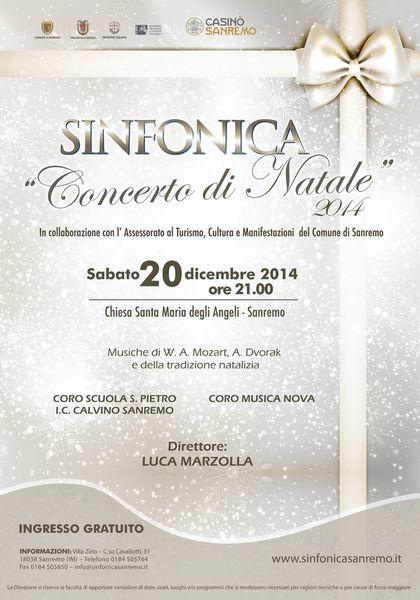CONCERTI NATALIZI - Settimana dell' Orchestra Sinfonica di Sanremo