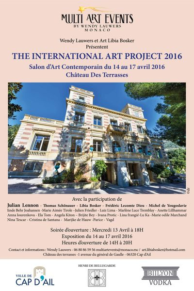 Cap d'Ail: L'INTERNATIONAL ART Project 2016», organisé par Multi Art Events By Wendy Lauwers Monaco et Art Libia Bosker Amsterdam