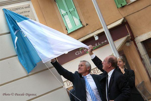 Inauguration de la nouvelle Place Clémenceau à Menton, le 2 avril 2016
