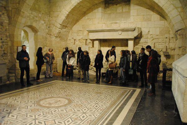 La promotion M2 Patrimoine au Musée archéologique de Narbonne