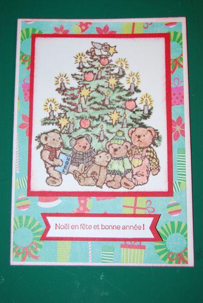Un sapin de Noël avec des ours ...
