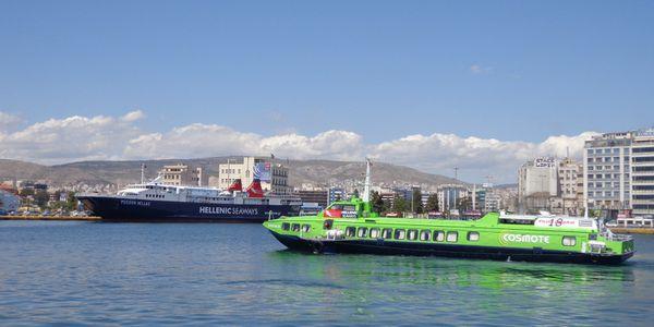 Comment circuler en Grèce : le bateau.