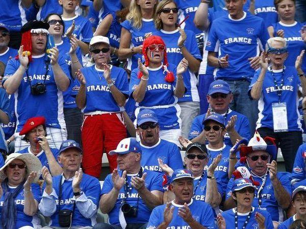 Les supporters français de la coupe Davis