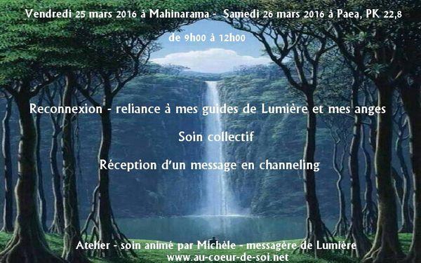 Atelier - soin collectif &quot&#x3B;Reconnexion - reliance à mes guides de Lumière et mes anges&quot&#x3B;