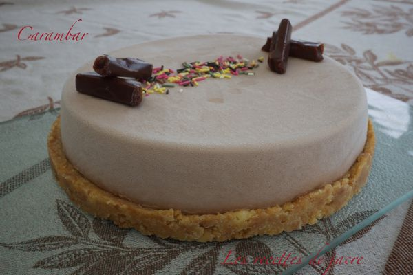 Panna cotta au caramel comme un cheesecake