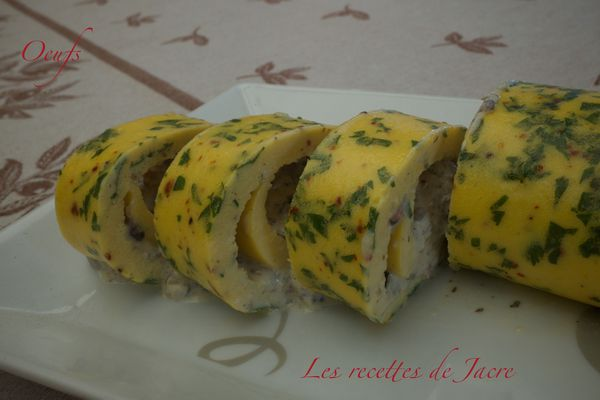 Omelette roulée