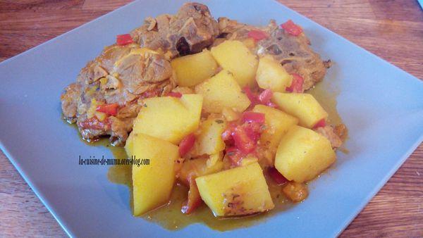 le ragoût d'agneau de pommes de terre revisité à l'espagnole