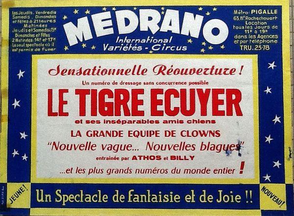 Du temps où Medrano s'est appelé &quot&#x3B;International Variétés Circus&quot&#x3B;