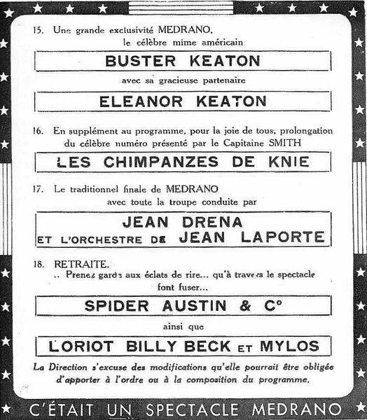 Les démêlées de Buster Keaton au cirque