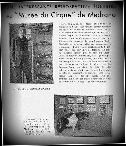 Le Musée du Cirque Medrano de Paris
