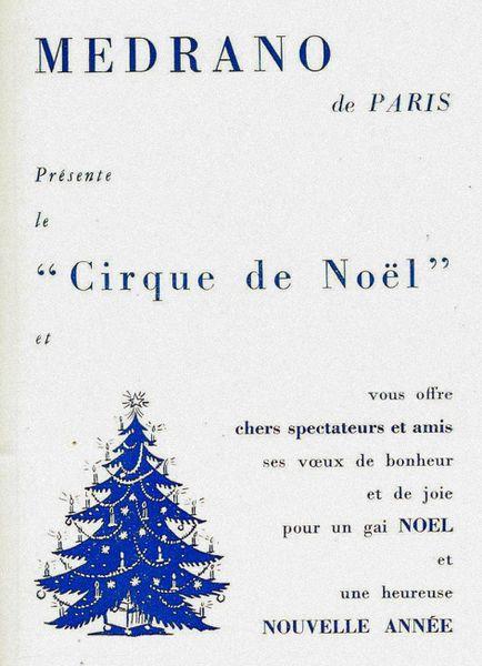 Le cirque de Noël (Medrano 1957)