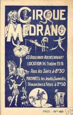 Medrano, le cirque des peintres !
