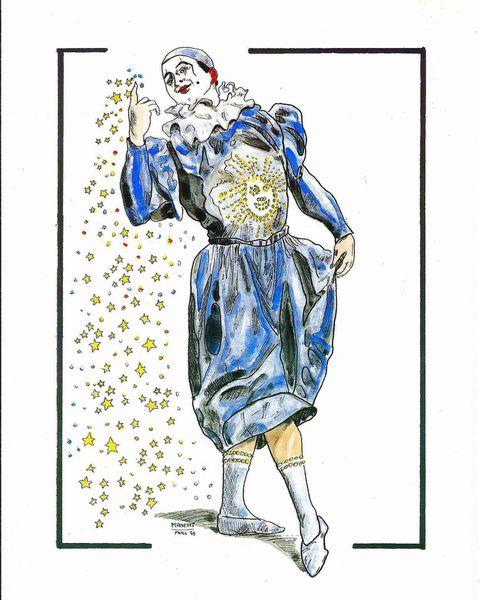 Qui a créé ce beau clown pierrot?