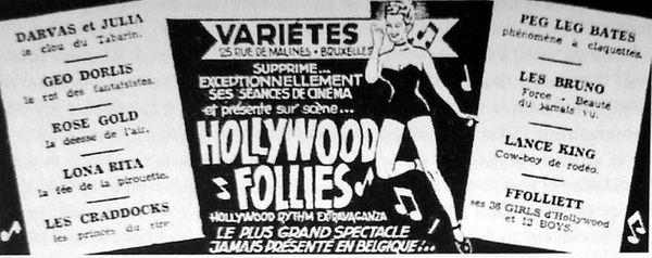 La revue &quot&#x3B;Hollywood Rhythm Extravaganza&quot&#x3B;, un bide chez Medrano,
