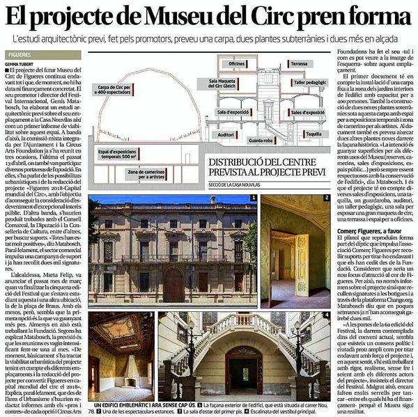 Le projet du musée du cirque européen à Figueres prend forme