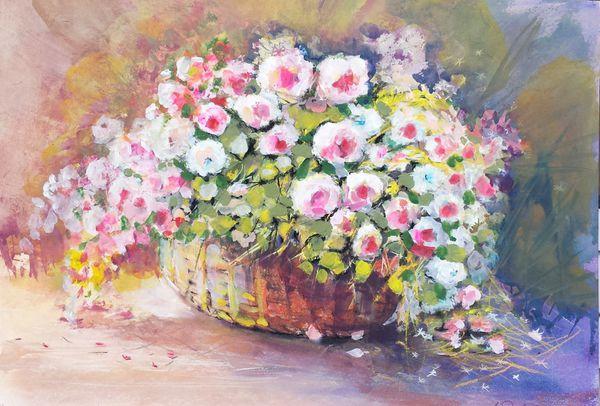 Le panier de fleurs