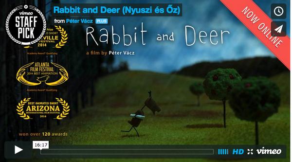 Court métrage hongrois : &quot&#x3B;le lapin et le cerf&quot&#x3B; par Péter Vácz