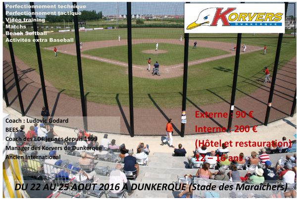 Summer Camp Baseball à Dunkerque