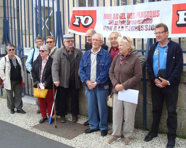 Les retraités FO déposent leurs revendications à la Préfecture le 3 juin
