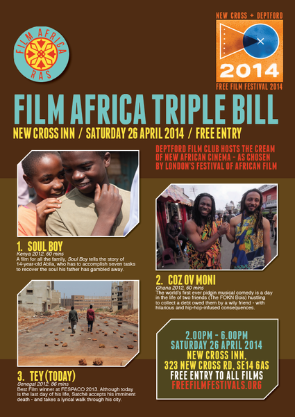 CINEMA : Festival FILM AFRICA à Londres, 26 avril 2014