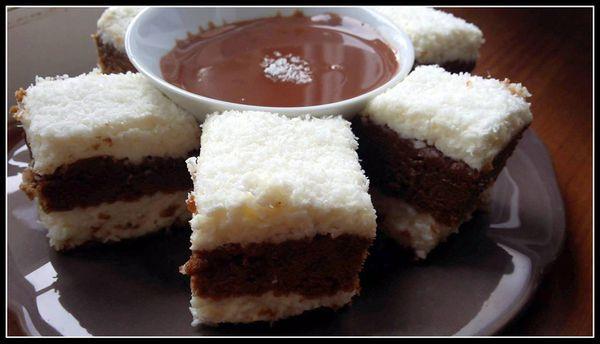 Moelleux au chocolat et mousse coco
