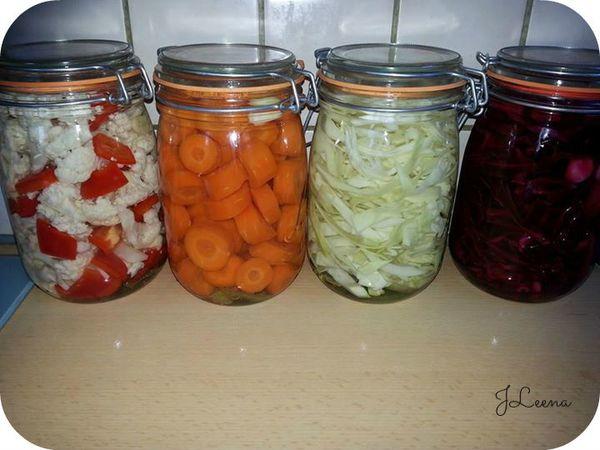Legumes en conserve (pickles)