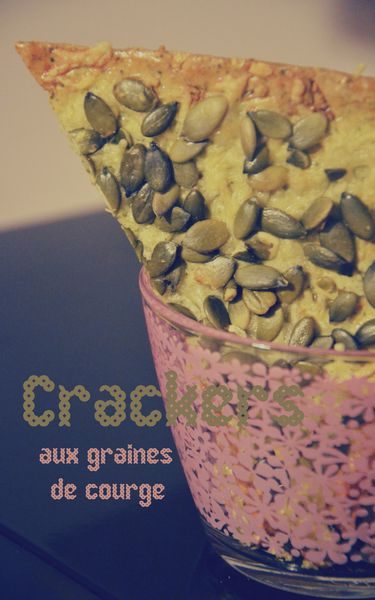 Crackers aux graines de courge