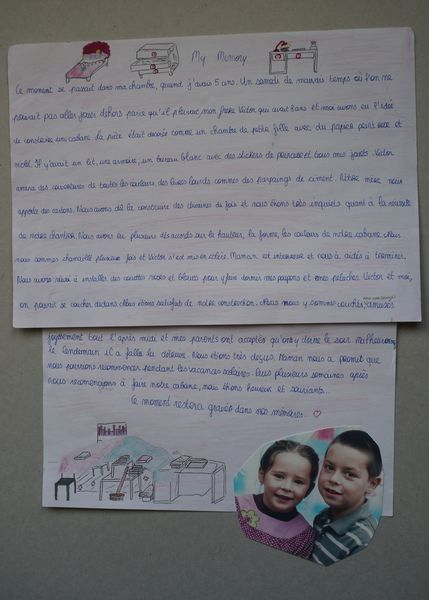 Mrs Lablée's students have written about a story that happened to them in their house