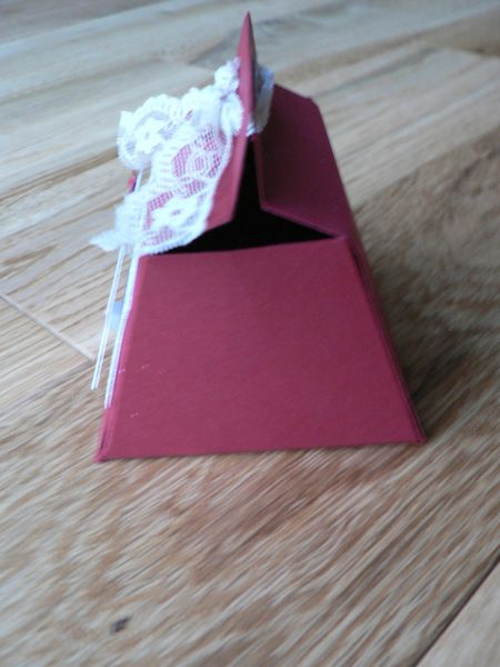 boite mariage stampin'up rouge rouge