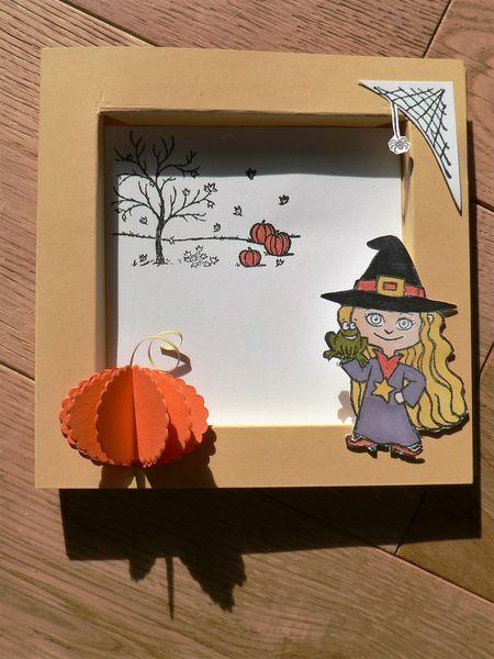 carte cadre scène pour halloween stampin'up