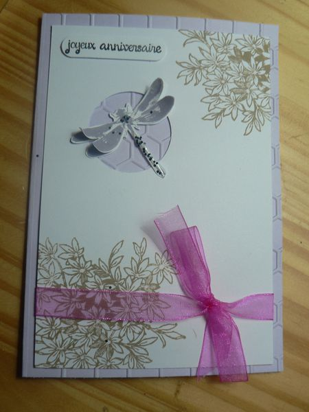 carte anniversaire fille stampin'up