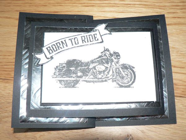 carte &quot&#x3B;born to ride&quot&#x3B; stampin'up